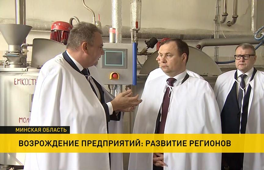 Головченко на ивенецком филиале ОАО «Слодыч»: Удалось не только возродить производство, но и добиться впечатляющих показателей