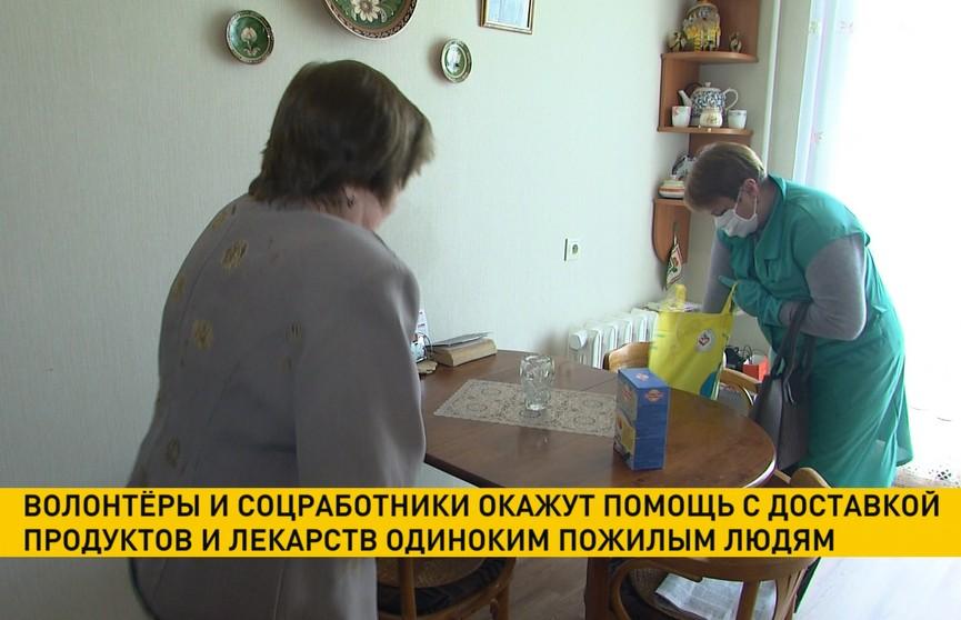 Волонтёры и соцработники доставят продукты и лекарства одиноким пожилым людям