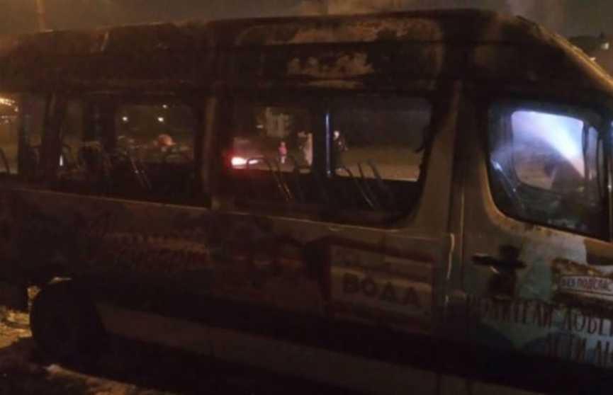 Маршрутка сгорела дотла в Минске
