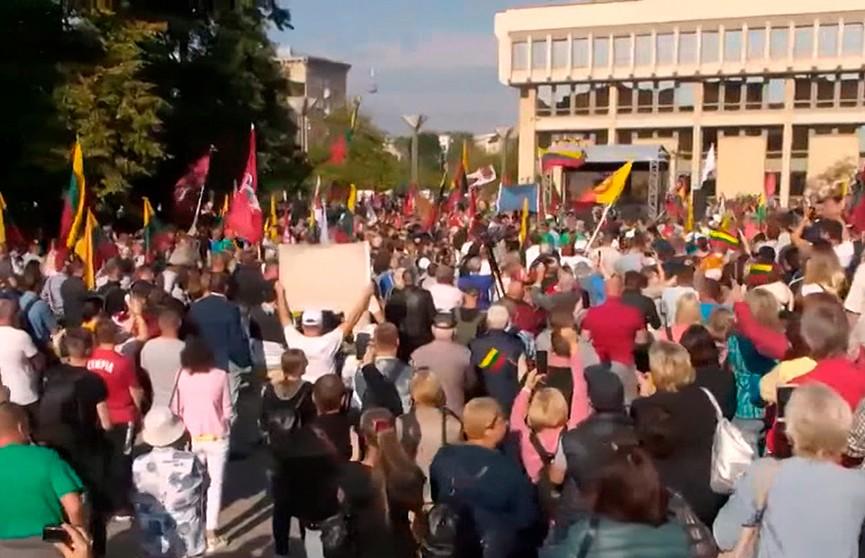 Девять человек арестованы после акций протеста в Вильнюсе