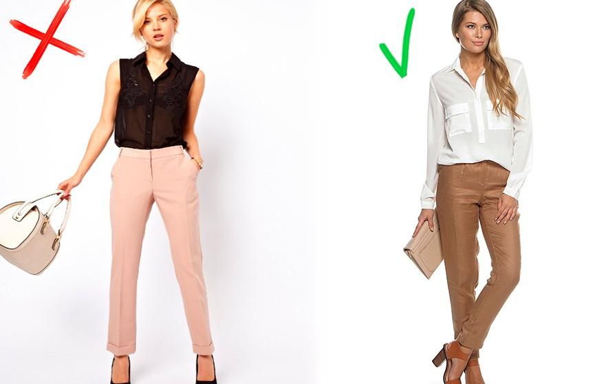 Три самые распространённые ошибки при сочетании цветов в одежде