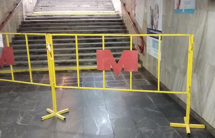 До 14 июля будет закрыт один из выходов со станции метро «Партизанская»