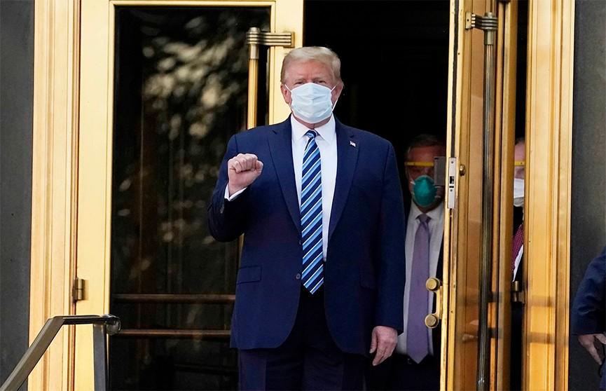 Дональд Трамп выписался из медцентра, где он проходил лечение от COVID-19