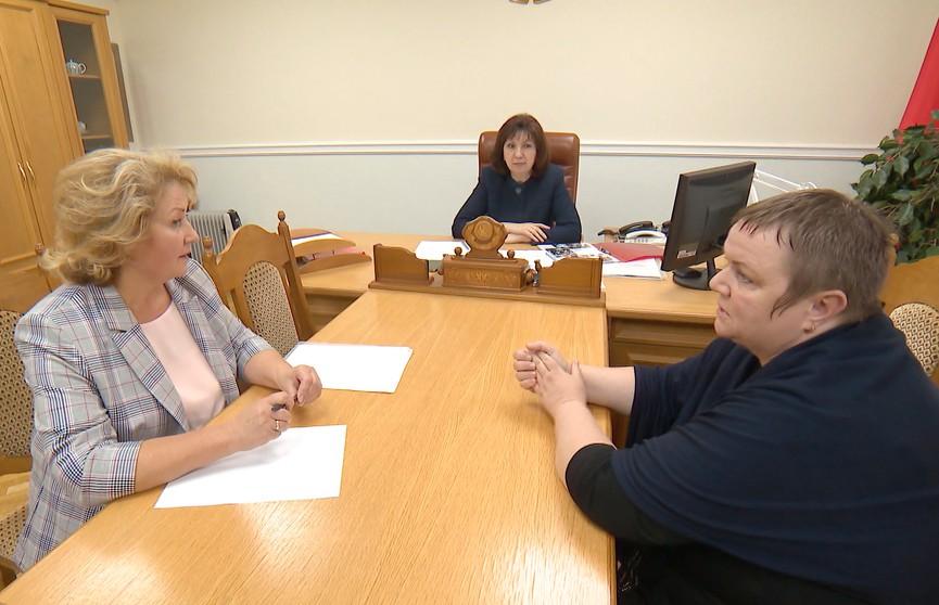 Поддержка бизнеса и решение квартирного вопроса: Наталья Кочанова выслушала вопросы белорусов о наболевшем