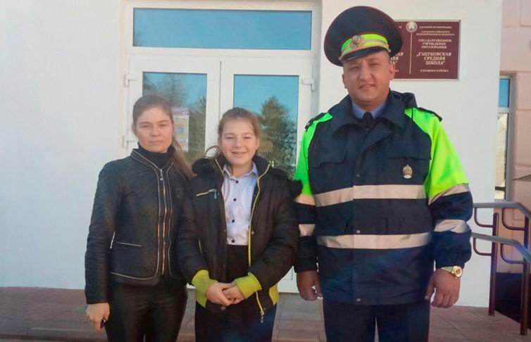 Инспектор ГАИ Слуцкого РОВД спас жизнь ребенку