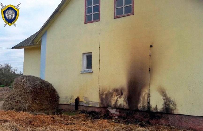 4-летний мальчик погиб в огне во дворе дома в Дрибинском районе