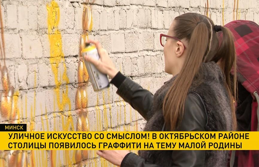 Октябрьский район Минска украсят граффити на тему малой родины