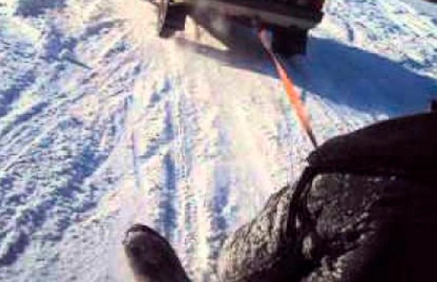 Парень погиб во время катания на привязанных к машине самодельных «санях» из капота