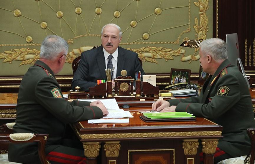 Александр Лукашенко обсудил с госсекретарем Совета безопасности и председателем Госпогранкомитета укрепление южной границы