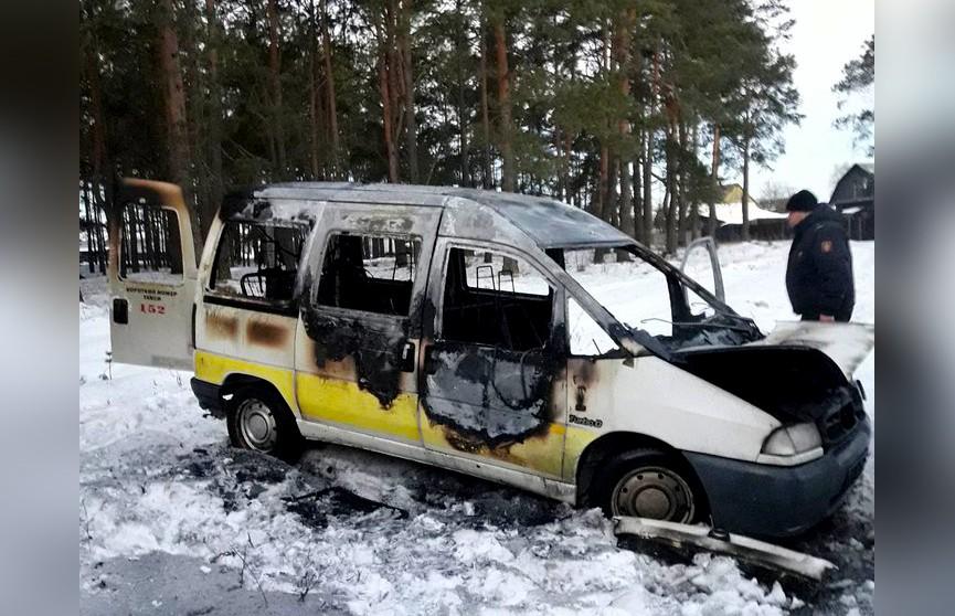 Убил, а затем поджёг машину. В Калинковичском районе найден труп таксиста