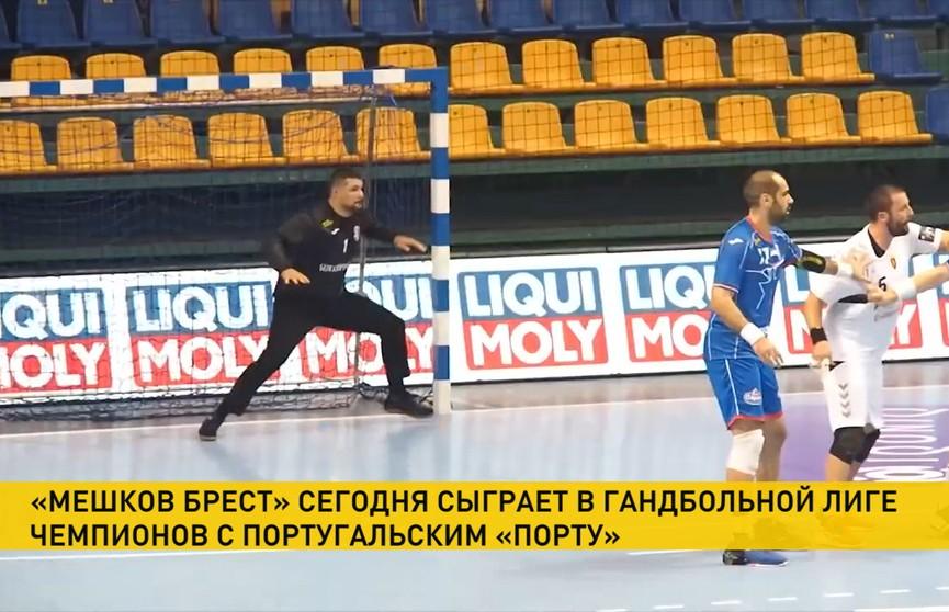 Гандбольный клуб «Мешков Брест» проведет матч против португальского «Порту»