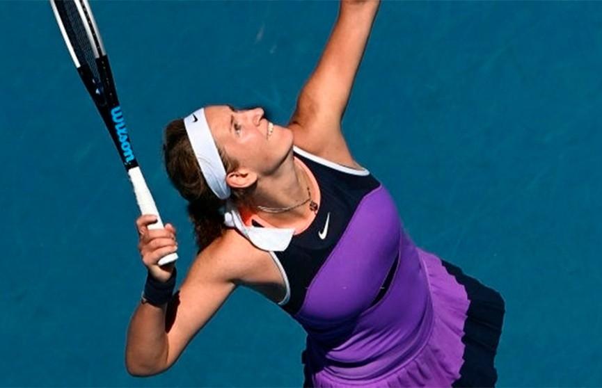 Виктория Азаренко вышла в четвертьфинал теннисного турнира в Дохе