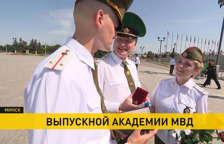 Академия МВД выпустила молодых офицеров