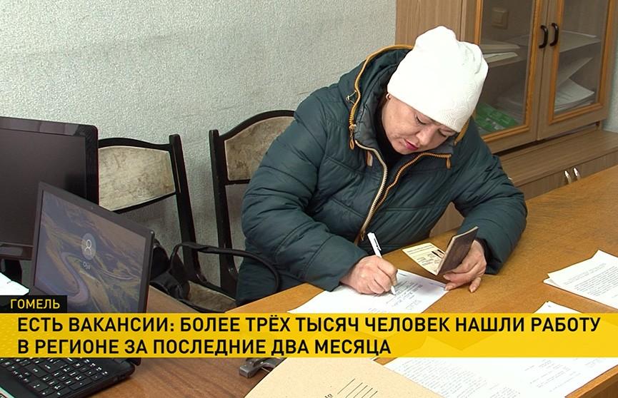 Более трёх тысяч человек в Гомельской области нашли работу