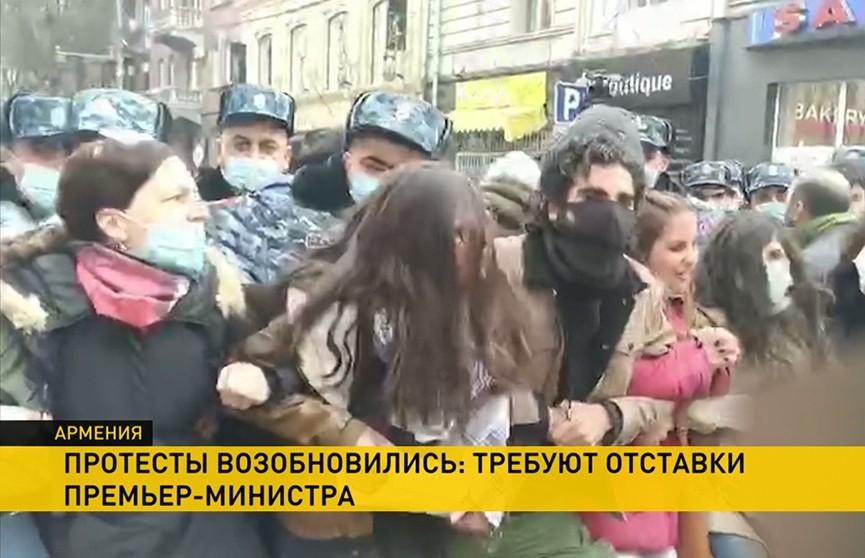Антиправительственные протесты не утихают в Армении