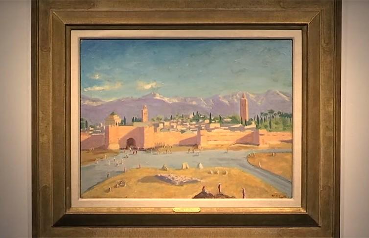 Картина Уинстона Черчилля «Башня мечети Кутубия» выставлена на аукцион Christie's.