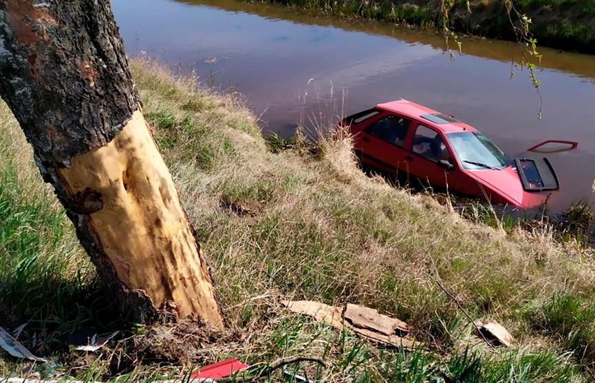Легковушка въехала в дерево и опрокинулась в водоканал – пассажир умер в реанимации