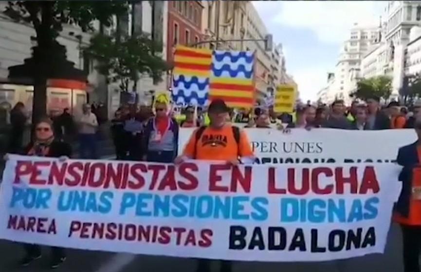 Колонны митингующих из крупнейших городов Каталонии направились к Барселоне