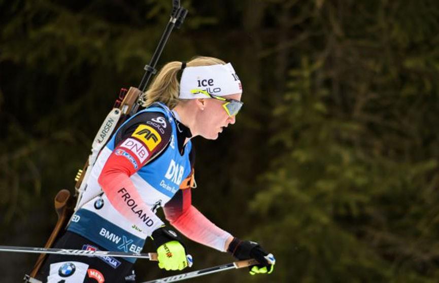 ЧМ по биатлону: норвежка Ройселанд победила в масс-старте