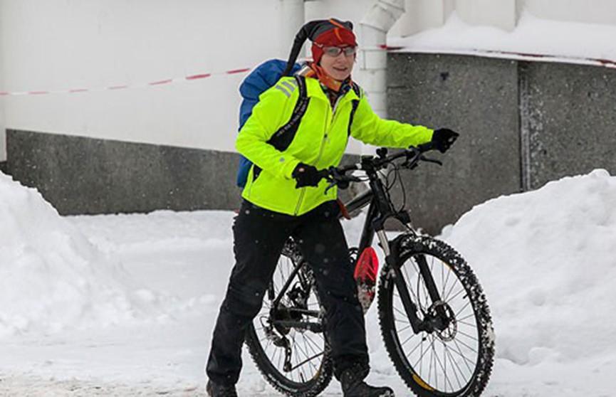 Могилевчане присоединились ко всемирной акции «На работу на велосипеде зимой»