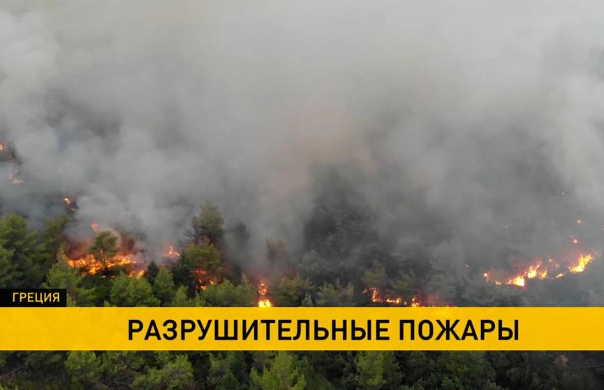 Из-за продолжительных пожаров в Греции эвакуируют население
