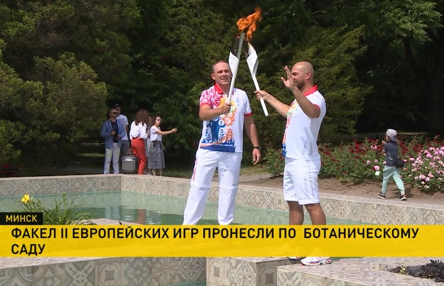 Ведущий ОНТ Дмитрий Бочков принял участие в эстафете «Пламя мира» II Европейских игр