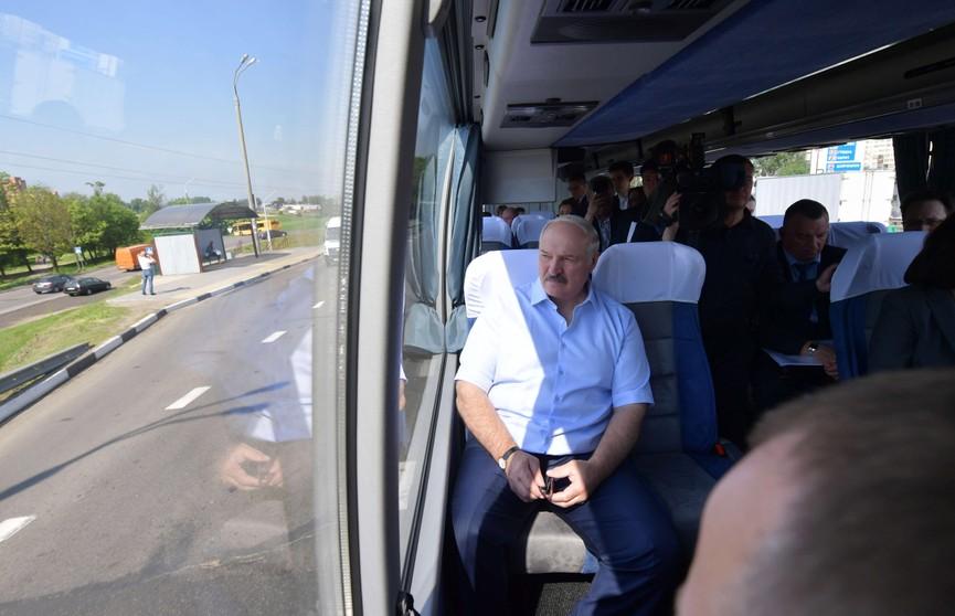 Александр Лукашенко проинспектировал дорожную и другую инфраструктуру Минска