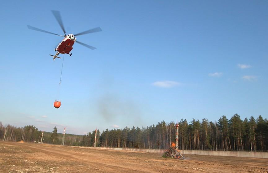 Авиация МЧС Беларуси: тушение пожаров – работа в горящих точках