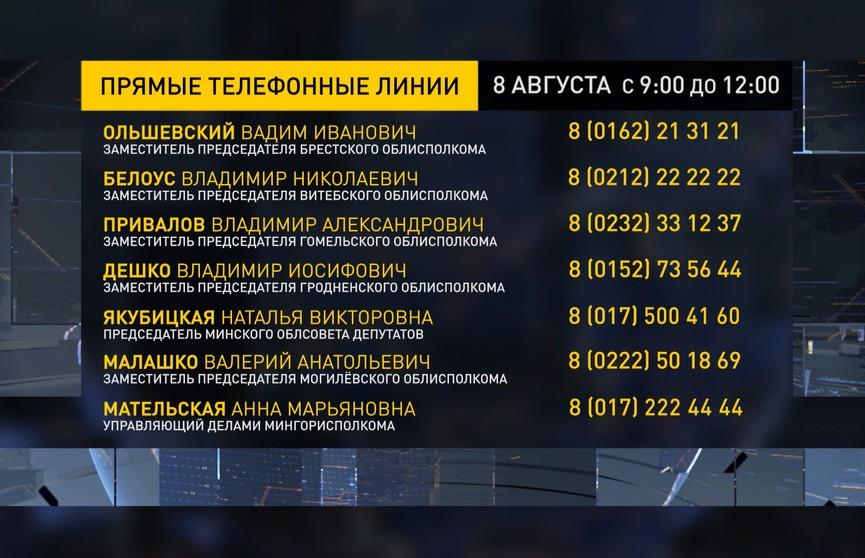 Прямые линии проходят в исполкомах по всей Беларуси