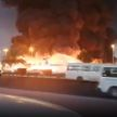 Пожар в ОАЭ: горит крупнейший рынок страны (ВИДЕО)