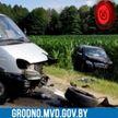 Пьяному 38-летнему пассажиру Mercedes пришлось зашивать бровь, а саму машину вытаскивать с кукурузного поля