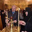 Рождественскую свечу зажёг Лукашенко на территории Свято-Елисаветинского монастыря в Минске