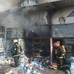 Торговый павильон загорелся в районе Комаровского рынка в Минске
