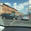 Пробка на проспекте Независимости: на перекрёстке проспекта и ул. Сурганова произошла авария