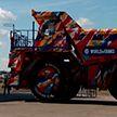 БелАЗ в камуфляже: уникальный самосвал впервые показали в Жодино