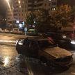 ДТП на Игуменском тракте в Минске: загорелся автомобиль