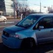 В Минске легковушка въехала в осветительный столб