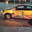 Маршрутка протаранила такси в Гродно