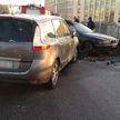 Жуткая авария в центре Минска: пассажир БМВ оказался заблокирован