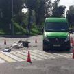 В Орше микроавтобус насмерть сбил мужчину на мопеде