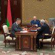 Президент принял с докладом министра промышленности Пархомчика и вице-премьера Назарова