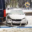 В центре Минска произошло ДТП по причине заноса