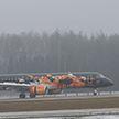 Самолёт «Белавиа», оформленный в фирменных цветах World of Tanks,  приземлился в Национальном аэропорту