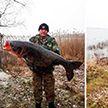 Толстолобика весом 27 кг поймали рыбаки в Браславе
