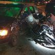 Мотоцикл столкнулся с легковушкой в Гродно