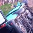 Уснул за рулём? В Воложинском районе микроавтобус вылетел в канаву