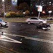 На ул. Притыцкого в Минске легковушка столкнулась с мотоциклом