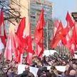 В Украине прошли массовые протесты против запрета оппозиционной партии Шария