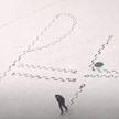 Преподаватель физики вытоптал на снегу формулу для учеников