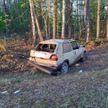 Бесправник врезался в дерево и оставив раненых пассажиров попытался сбежать